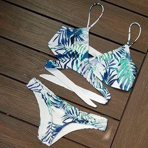 Reversible Palm Print Bikini
